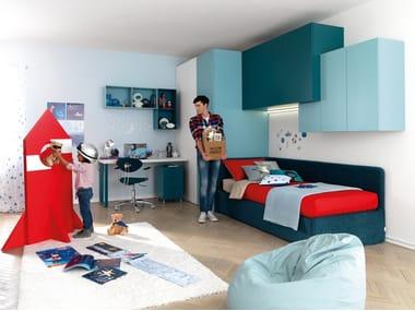 Fitted birch bedroom set with bridge wardrobe KC401 | Bedroom set with bridge wardrobe