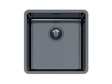 Single flush-mounted stainless steel sink KE 40 VINTAGE GUNMETAL FT