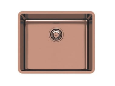Single undermount stainless steel sink KE 50 VINTAGE COPPER S/T