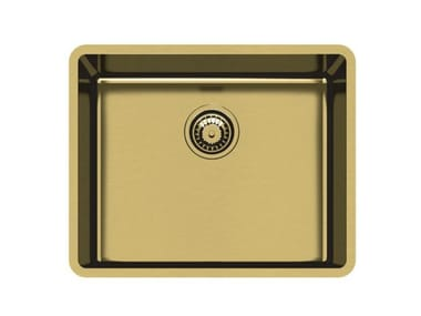 Single undermount stainless steel sink KE 50 VINTAGE GOLD S/T