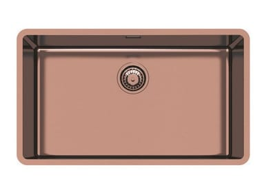 Single undermount stainless steel sink KE 71 VINTAGE COPPER S/T