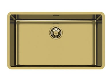 Single undermount stainless steel sink KE 71 VINTAGE GOLD S/T
