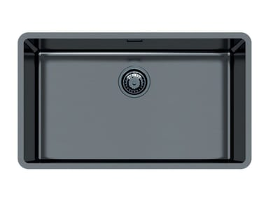 Single flush-mounted stainless steel sink KE 71 VINTAGE GUNMETAL FT