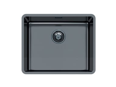 Single flush-mounted stainless steel sink KE R15 50X40 FT GUNMETAL