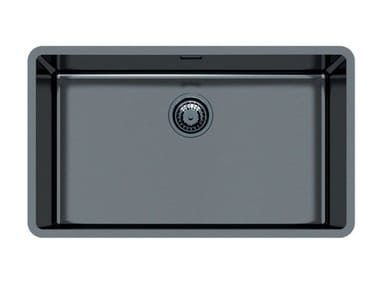 Single flush-mounted stainless steel sink KE R15 71X40 FT GUNMETAL