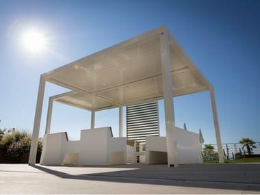 terrassen berdachung aus aluminium mit schwenkbaren. Black Bedroom Furniture Sets. Home Design Ideas