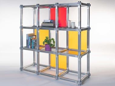 Libreria a giorno autoportante modulare KEIGIO® SHELF 9 frames 2+4+2+1