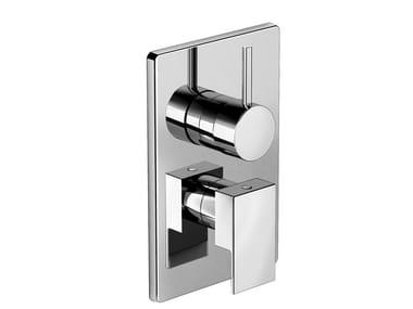 Miscelatore per doccia in ottone con deviatore con piastra KELIO 63 - 6350188