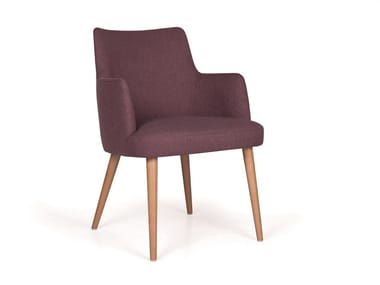 Upholstered fabric chair with armrests KELLY 04 MAPLE