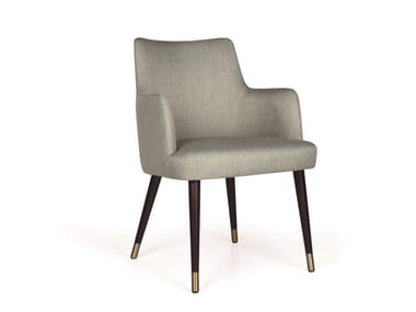 Upholstered fabric chair with armrests KELLY 04 MAPLE LT