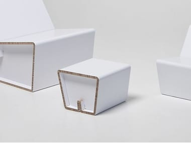 Low cardboard stool KENNO XS