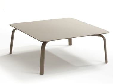 Square aluminium garden side table KEY WEST   Square coffee table
