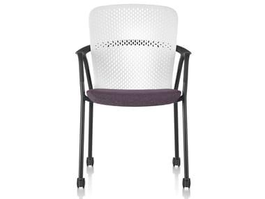 Cadeira com braços e rodízios KEYN | Cadeira com braços
