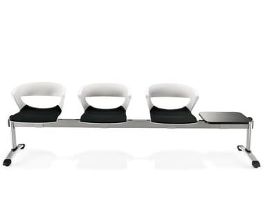 Freestanding plastic beam seating KICCA | Beam seating
