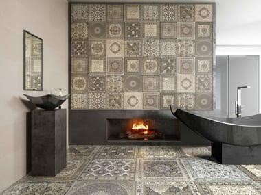 White-paste wall tiles with textile effect KILIM | Wall tiles