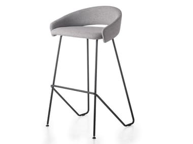High fabric stool with footrest KIMMI | Stool
