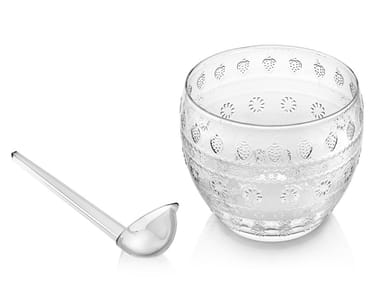 Punch glass bowl with ladle VITAMINIC