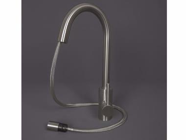 Grifo de cocina mezclador de acero inoxidable con ducha desmontable 3200021/2 | Grifo de cocina mezclador con ducha desmontable