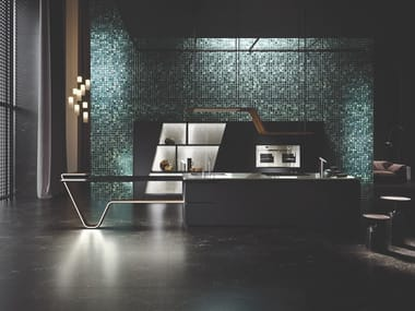 Fitted kitchen with island VISION | Kitchen