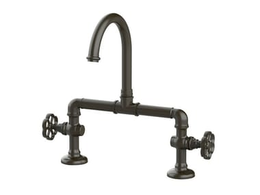 2 hole kitchen tap with swivel spout RKM09CT | Kitchen tap