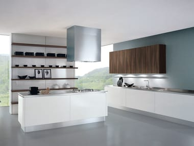 Cucina componibile laccata con isola TOUCH | Cucina con isola
