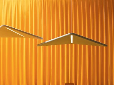 Hanging acoustical panel with Integrated Lighting KITE | Hanging acoustical panel