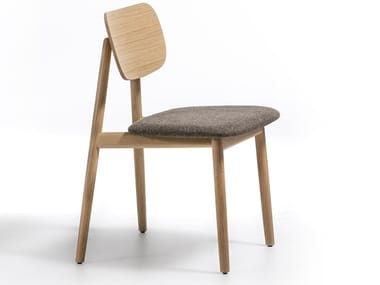 Solid wood chair with integrated cushion KLARA | Chair