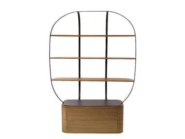 Libreria in legno con cassetti KLEC