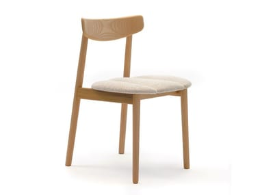 Ash chair with integrated cushion KLEE | Chair with integrated cushion