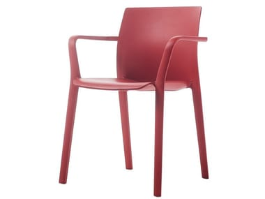Stackable polypropylene chair with armrests KLIA | Chair