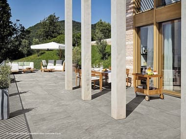 Porcelain stoneware outdoor floor tiles with stone effect KLIF | Outdoor floor tiles