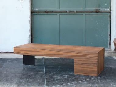Low wood veneer coffee table for living room KLIMUK