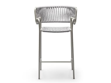 High nautical rope garden stool with armrests KLOT SG
