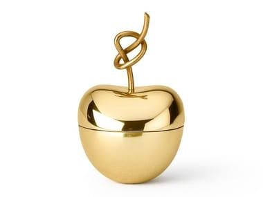 Brass storage box / jewel box KNOTTED CHERRY