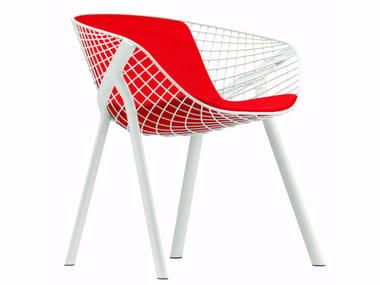 Steel chair with armrests KOBI PAD MEDIUM - 043