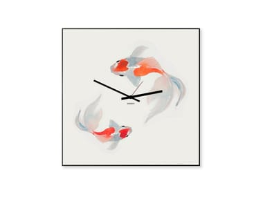 Wall-mounted Stamped plate clock KOI
