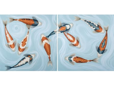 Canvas Painting Koi Pacific I & II