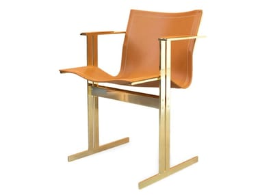 Leather chair with armrests KOLB | Chair