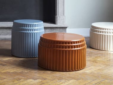 Lacquered round coffee table KOLOS
