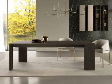 Extending wooden dining table KONSTANTINE
