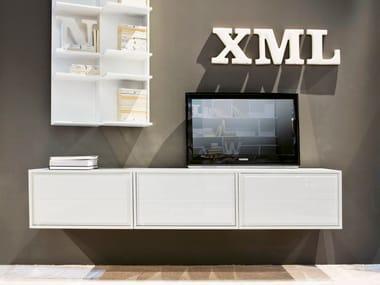Modular wood fibre TV cabinet KREA