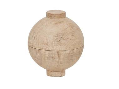 Oak serving bowl KRISTINA DAM -  WOODEN SPHERE OAK