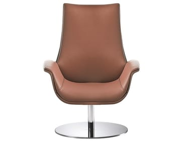Swivel leather armchair KRITERIA | Armchair