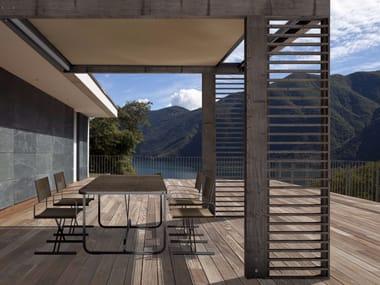 Wall-mounted wooden pergola KRONOS | Wall-mounted pergola