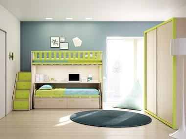 Loft Fitted Teenage Bedroom KS 208 | Bedroom Set