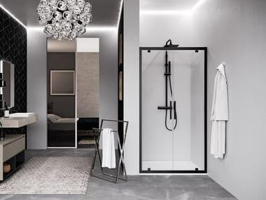 Box doccia a nicchia con porta pivotante KUADRA 2.0 2B