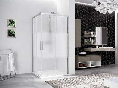 Box doccia angolare con porta scorrevole KUADRA 2.0 2PH