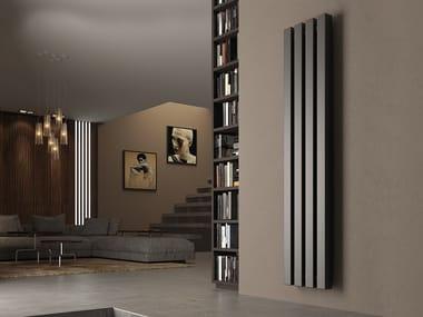 Vertical wall-mounted steel decorative radiator KUBIK