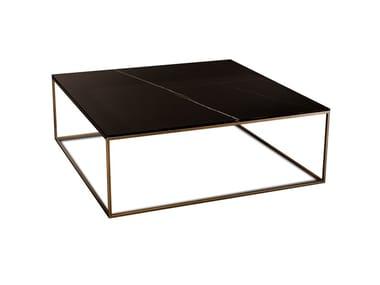 Tavolino quadrato in vetromarmo KUBO | Tavolino