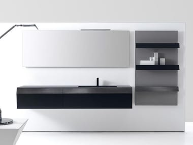 Wall-mounted vanity unit with drawers KUT 01